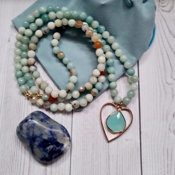 green aventurine necklace with heart